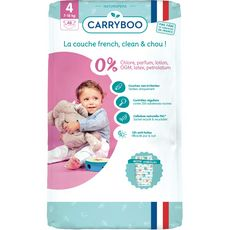 Carryboo Couches écologiques dermo-sensitives taille 4 (7-18kg) x48