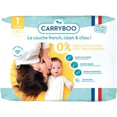 CARRYBOO Carryboo Couches dermo-sensitives taille 1 (2-5kg) 27 couches