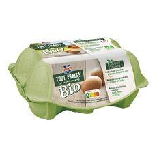 LUSTUCRU LUSTUCRU Oeufs bio de poules élevées en plein air sans OGM x6 6 œufs