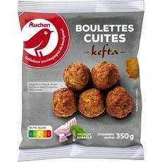 AUCHAN Boulettes kefta cuites 25 pièces 350g