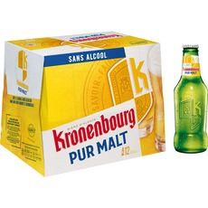 KRONENBOURG Bière blonde sans alcool 0,4% bouteilles 12x25cl