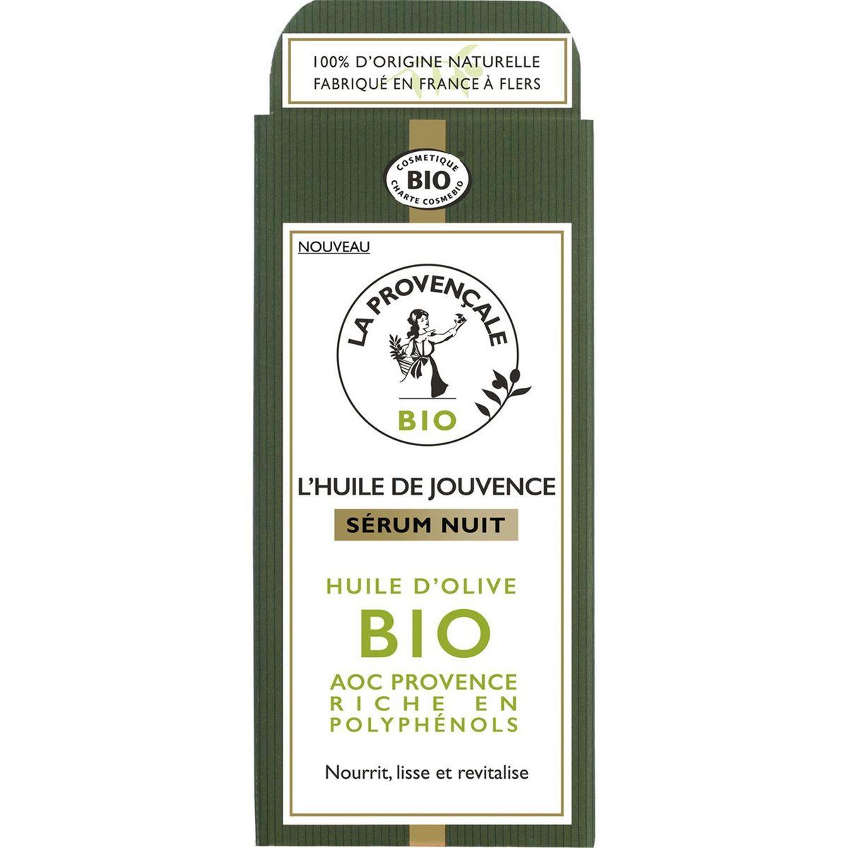 La Provençale Bio Sérum de jouvence nuit huile d'olive bio 30ml