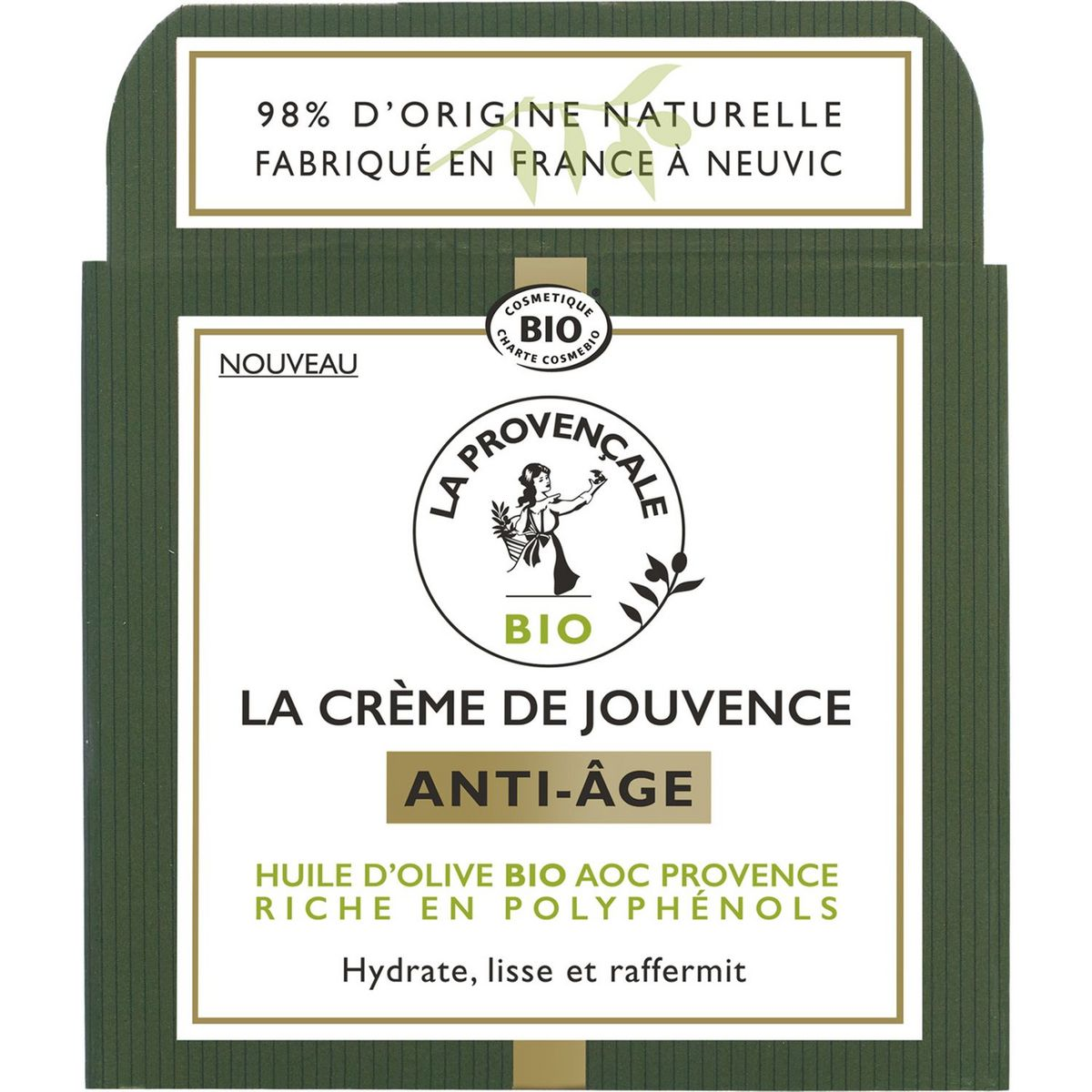 La Provençale Bio Crème de jouvence anti-âge nuit huile d'olive bio 50ml
