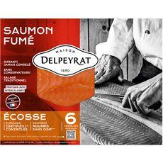 DELPEYRAT Saumon fumé Ecosse  6 tranches 195g
