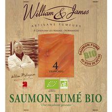 William & James Saumon fumé bio tranché x4 100g