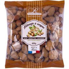 MAISON ROUCADIL Mélange 3 coques noix noisettes et amandes 500g