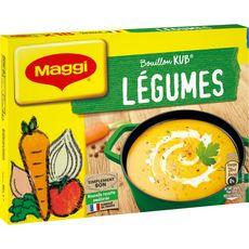 MAGGI Bouillon de légumes sans colorant sans conservateur 18 tablettes 180g