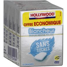 Hollywood blancheur menthe polaire x5 -70g