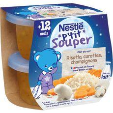 Nestlé NESTLE P'tit souper bol risotto carottes et champignons dès 12 mois