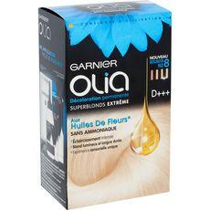GARNIER Olia Décoloration permanente sans ammoniaque 8 super blonds extrême 3 produits 1 kit