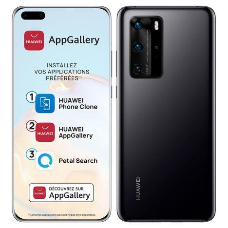 HUAWEI Smartphone P40 Pro 256 Go 6.58 pouces Noir 5G Double port NanoSiM + e-SIM