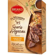 BIGARD Souris d'agneau cuite et son jus d'ail et romarin 2/3 portions 400g