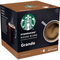 STARBUCKS Capsules de café house blend grande compatibles Dolce Gusto 12 capsules 102g