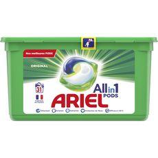 ARIEL Pods Lessive en capsules éco dose original 31 lavages 31 capsules