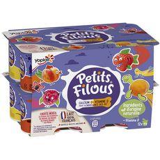 PETITS FILOUS Petits suisses aromatisés aux fruits mixés 12x50g
