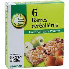 POUCE Barres céréalières pomme abricot 6 barres 125g
