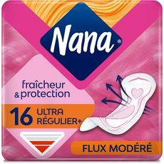 NANA Secure Fit serviettes hygiéniques sans ailettes normal 16 serviettes