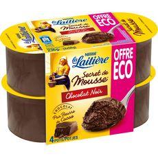 LA LAITIERE Mousse au chocolat noir 4x59g