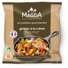 MAGDA Les Poêlées Gourmandes Girolles à la crème 2 /3 parts 300g