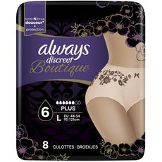 Always ALWAYS Discreet Boutique culottes incontinence plus taille L