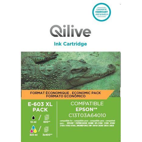 QILIVE Cartouche imprimante E-603 XL Pack 4 couleurs
