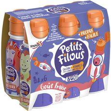 Yoplait Petits Filous yaourt à boire à la fraise 6x100g