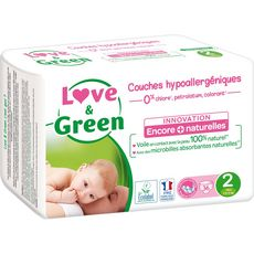 LOVE ET GREEN Couches écologiques taille 2 (3-5kg) 36 couches