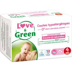 LOVE ET GREEN Couches écologiques taille 4 (7-14 kg) 46 couches