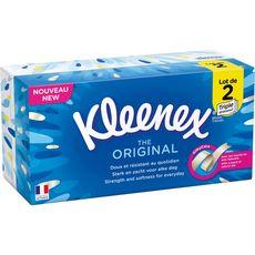 KLEENEX Boîtes de mouchoirs original 2x80 mouchoirs