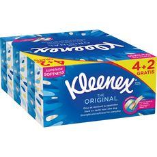 KLEENEX The Original Mouchoirs en boîte 4+2 offertes