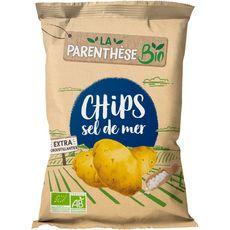LA PARENTHESE BIO Chips au sel de mer 125g