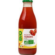 AUCHAN BIO Pur jus de tomate bouteille verre 1l