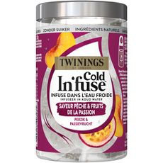 Twinings Cold In'fuse infusion froide pêche fruits de la passion x10 -25g