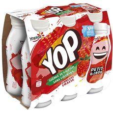 PTIT YOP Yaourt à boire à la fraise 6x180g