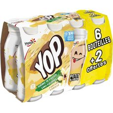 PTIT YOP P'tit Yop Yaourt à boire à la vanille 8x180g 8x180g