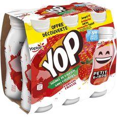 YOP Yop Yaourt à boire à la fraise 6x180g 6x180g
