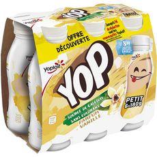 YOP Yop Yaourt à boire à la vanille 6x180g 6x180g
