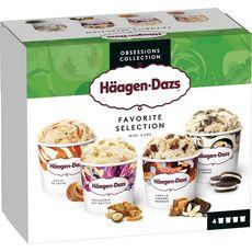 Häagen-Dazs HAAGEN DAZS Mini pot de crème glacée favorite collection