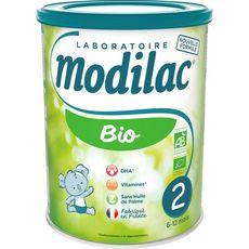 MODILAC Lait 2ème âge bio en poudre de 6 à 12 mois 800g