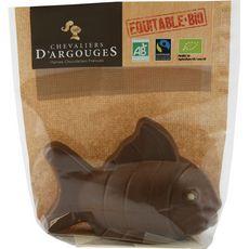CHEVALIERS D'ARGOUGES Chevaliers D'Argouges Poisson chocolat au lait bio équitable 70g 70g