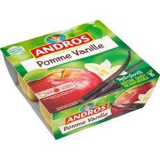 ANDROS Spécialité de pomme à la vanille 4x100g