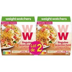 WEIGHT WATCHERS Weight Watchers Linguine au jambon fumé 2x290g 2x290g