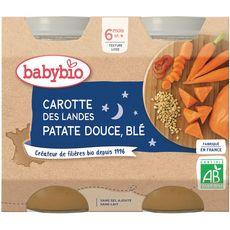 Babybio BABYBIO Petit pot carottes patate douce & blé bio dès 6 mois