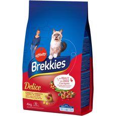 BREKKIES Croquettes fourrées au jambon pour chat 4kg