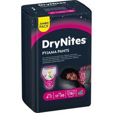 HUGGIES DryNites culottes de nuit absorbantes filles 4-7 ans 16 culottes