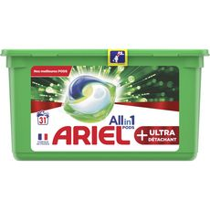 ARIEL Pods lessive capsules écodoses ultra détachant 31 lavages 31 capsules