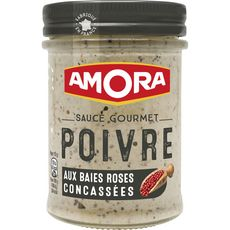 AMORA Amora Sauce gourmet poivre aux baies roses concassées 188g 188g