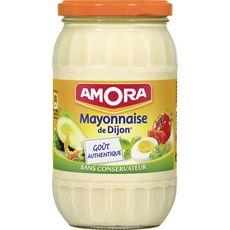 AMORA Mayonnaise de Dijon goût authentique sans conservateur en bocal 470g