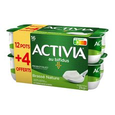 ACTIVIA Activia Yaourt brassé bifidus nature 16x125g 16x125g