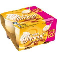 NESTLE Le Viennois Liégeois à la vanille nappage caramel 4x100g
